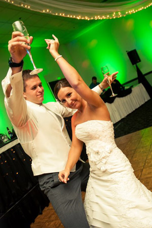 Bride and Groom that EMS DJ is at their Fort Wayne Wedding DJ